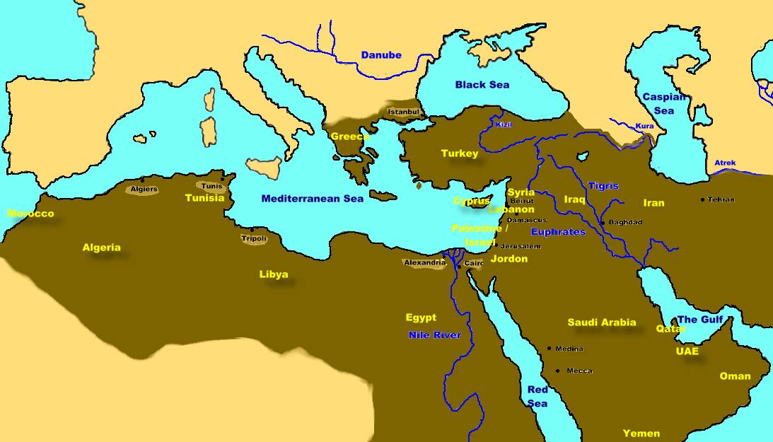 Middle East Maghrib Maps