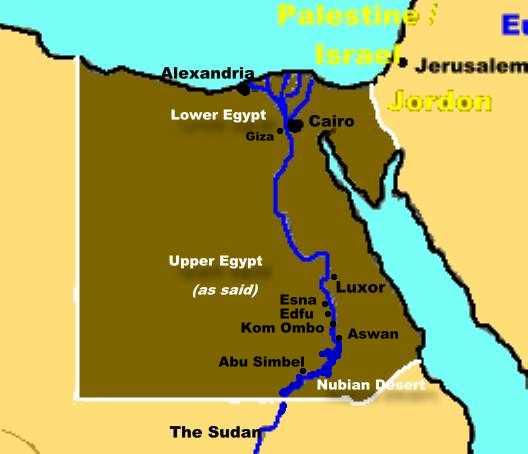 aswan high dam map. 2003 Itinerary