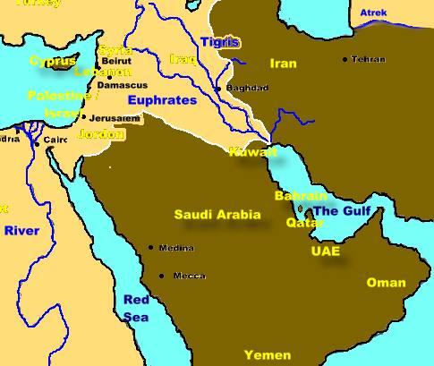 the countries of the gulf arabian penisula